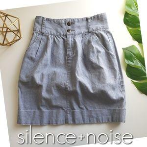UO SILENCE+NOISE chambray linen denim skirt